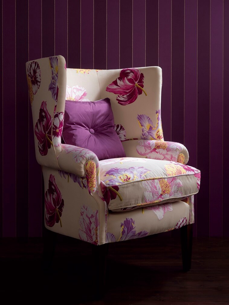 complementary colors yellow,complementary colors purple,upholstered sofa designs,floral home decor fabric,purple wall paper,