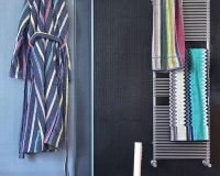 Missoni,MissoniHome,T&J Vestor Italy,fabric,decorative fabric,curtains,decorative curtains,decorative pillows,upholstery,upholstery design,upholstery fabric,upholstery fabric ideas,upholstery ideas,upholstered furniture,house decorating ideas,trendy colors,blue color,orange color,complementary colors,green color,white color,blue fabric,color,colorful,yellow color,red color,blue decor,purple color,strong colors,vibrant colors,pastel colors,bathroom,bathroom decor,bathroom design,towels,