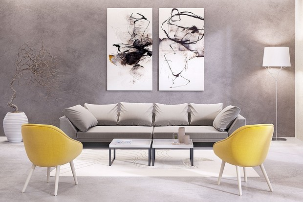 Design inspirations artwork for your living room archi for Best paintings for living room