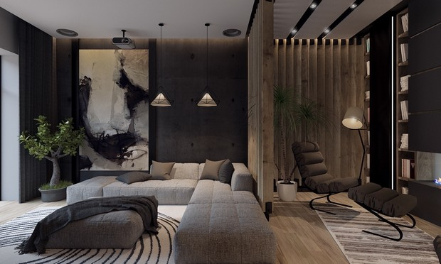 Living Room Design Modern Industrial Loftdiego Revollo Arquitetura  Interiors Lofts