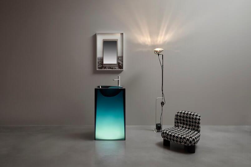 water inspired bathrooms,wash basin designs for small bathrooms,wash basin light led,designer freestanding wash basin,cristalmood antonio lupi,