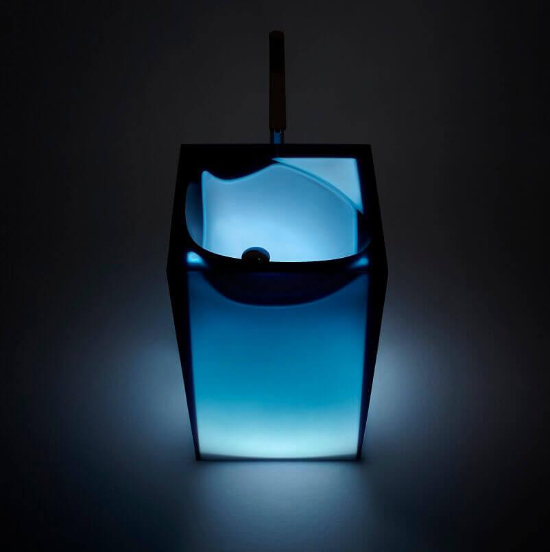 blue bathroom sink unit,blue sink with led lights,transparent bathroom sink,washbasin design for designer bathroom,italian bathroom manufacturers,