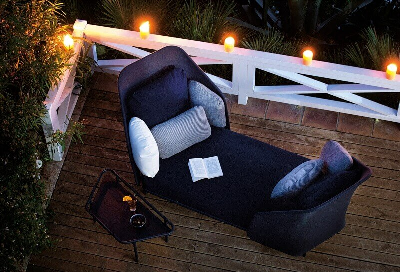 outdoor seating for a couple,design an outdoor living space,romantic candle lit setting,romantic outdoor lighting ideas,relaxing garden furniture,