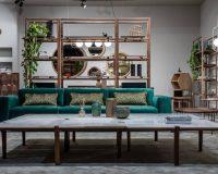 designer shelves made of wood,wooden shelves room divider,luxury green velvet sofa,wooden furniture designs for living room,wood table design for home,