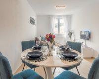 blue dining room chairs,blue table decor ideas,holiday apartment hvar croatia,calming interior design,best apartments in hvar,