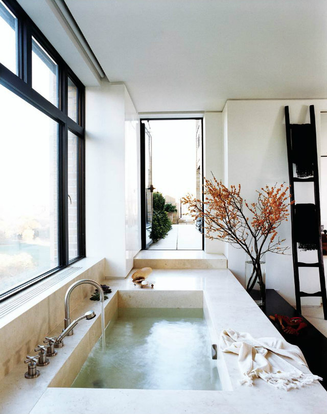 pictures of tiled bathroom floors top designers donna karan s manhattan archi 23986