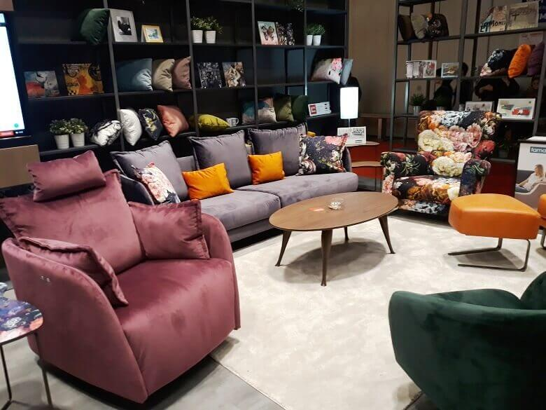 colorful sofas and couches,trendy velvet sofa in living room ideas,designer seating furniture for living room,salone del mobile exhibitors,trendovi u uređenju interijera,