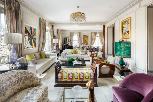 Frank Lloyd Wright's Plaza apartment,famous architects,luxury living room design,art deco living room design,art deco apartment design,