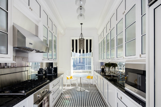 Frank Lloyd Wright's New York apartment,celebrity architects,luxury kitchen design,art deco apartment design ideas,white kitchen ideas,