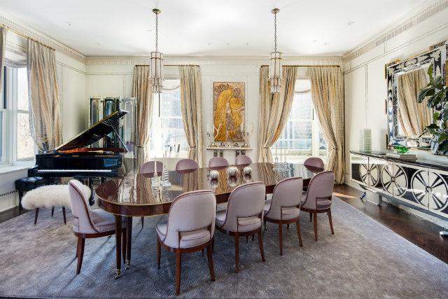 Frank Lloyd Wright's New York apartment,celebrity architects,luxury dining room design,art deco dining room,art deco apartment design ideas,