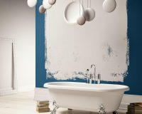 modern bathtub with lion feet,italian freestanding baths,freestanding bath materials,bathtub design gloss and matt finish,modern retro bathroom design,