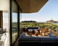 grand park hotel rovinj designer,luxury hotel design ideas,hotel terrace with a view rovinj,blue designer sofa outdoor,where to stay in istrian peninsula,