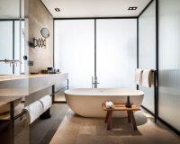 grand park hotel rovinj interior designer,luxury hotel bathroom design,freestanding bathtub luxury bathroom,hotel bathroom design ideas,neutral colour palette bathroom,