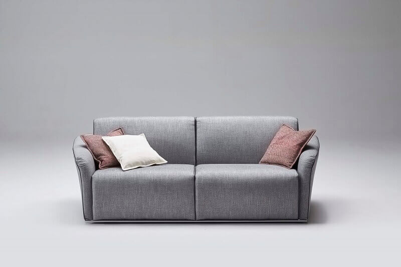 gray sofa bed with removable cover design,milano bedding gray groove,contemporary italian furniture,modern living room seating,designer sofa bed in neutral color,
