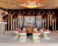 sea inspired decorating ideas,trendy restaurant interiors,sleep & eat olympia london,beige and brown hotel ideas,hospitality interior design trends,