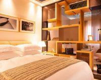 best modern hotel room design,hospitality design events 2019,trendy bedroom decor,hotel room decorating neutral colors,sleep & eat olympia london,