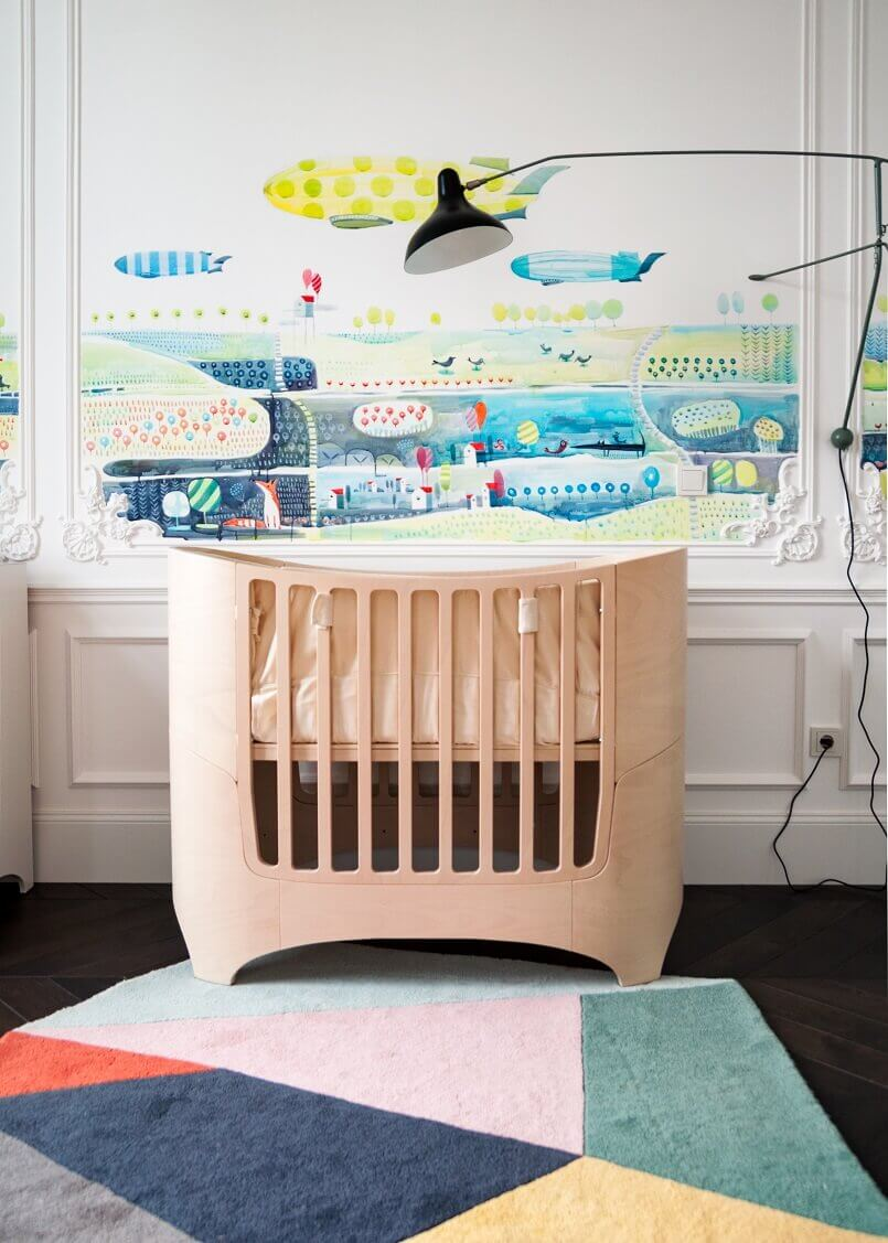 nursery design ideas,colorful nursery decor,designer bed for baby,painted wall ideas,kiev interior design,