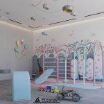 playroom design for kids,luxury children's bedroom furniture,pastel color room design,kids luxury playhouse interiors,indoor playground for kids,