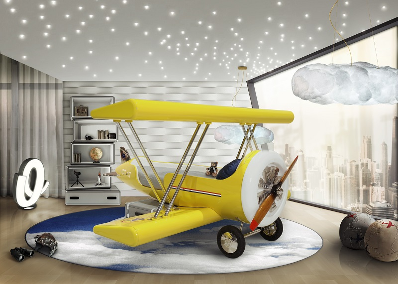Kidsu0027 Room Design U2013 Sky Collection For Little Pilots