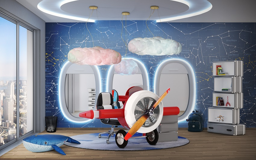 kids room interior design boy kids room designkids design ideaschildren designchildrens kids room design sky collection for little pilots archilivingcom
