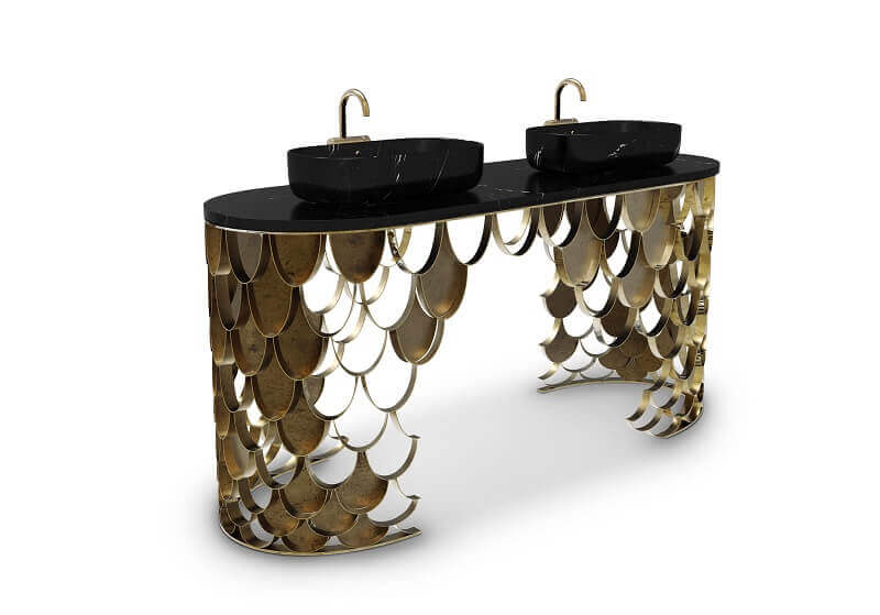 wash basin inspired by koi carp,luxury marble wash basin with pedestal,furniture inspired by fish scales,marble bathroom furniture,luxury bathrooms marble,