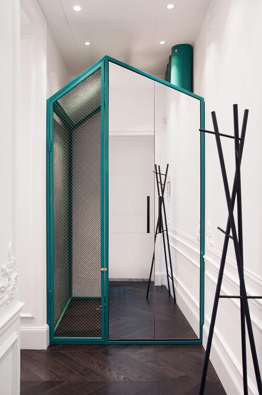 designer closet ideas,turquoise closet design,interior design in ukraine,apartment in kiev,decorative walls,