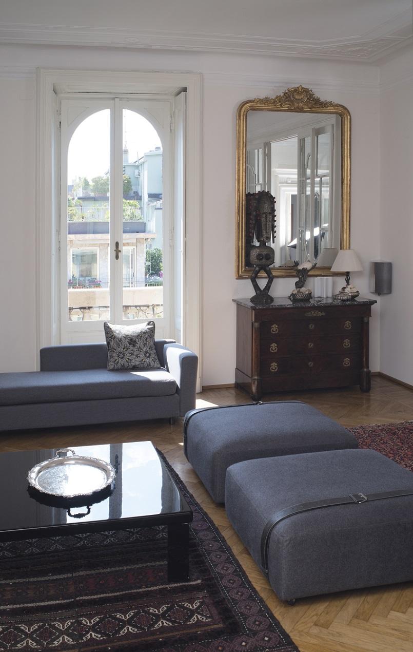 Apartment Design Ideas - Antique Furniture Meets Modern Design ...