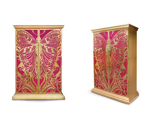 armoire luxury wardrobe,butterfly armoire,gold and pink armoire butterfly,luxury furniture ideas,high end wardrobe designs,