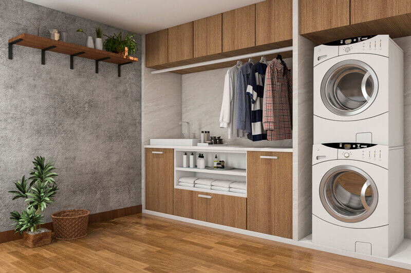 laundry room design tips,colorful tiles for bathroom,wooden design bathroom,wood themed tiles,walls and floors in laundry room,