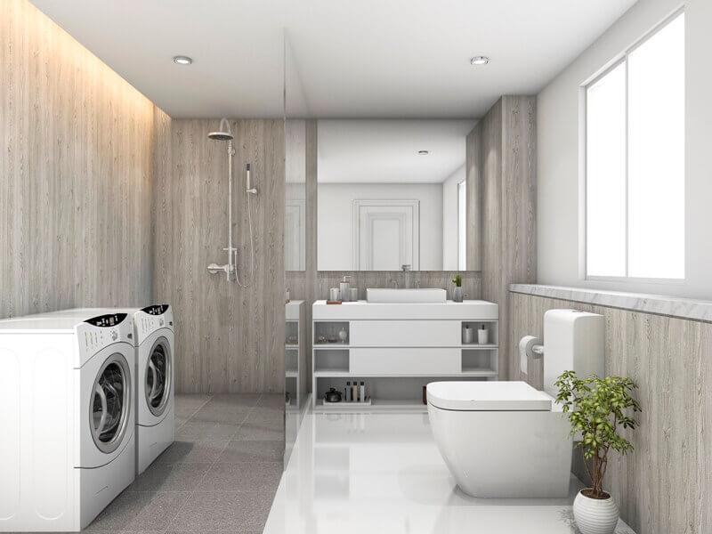 tiles in bathroom design,how to choose bathroom floor tile,walls and floors in laundry room,laundry room design tips,laundry room wall ideas,