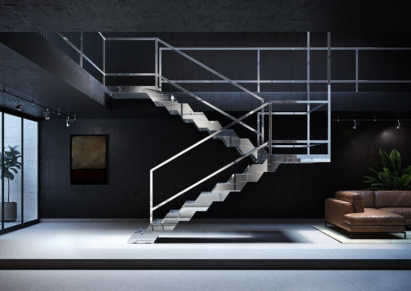 contemporary italian stairs,high end staircase design,designer stairs for houses,stainless steel staircase design,fontanot treppen,