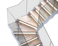 designer staircase railings,fontanot scale interne,glass and wood staircase design,wood staircase with glass,modular staircase for construction,