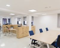 contemporary conference room furniture,wood furniture office ideas,dark blue work chair,office furniture partitions,white walls modern architecture,