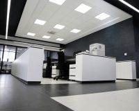 gray and black office ideas,white and black office decor,white workplace cubicles,black white flooring ideas,workplace office cubicles,