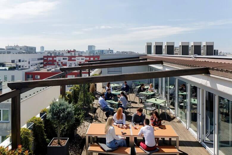 office terrace furniture,workspace terrace design,outdoor design ideas,creative office design,creative office ideas,