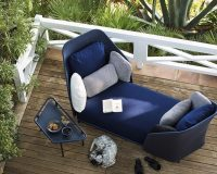 designer outdoor furniture,garden furniture for couples,weekend relaxation,blue sofa ideas,terrace design,