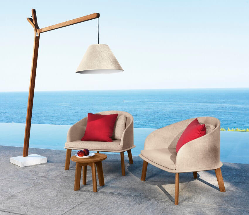 favourite color red personality,favorite color blue personality,talenti outdoor furniture,designer outdoor armchairs,outdoor light fixtures,