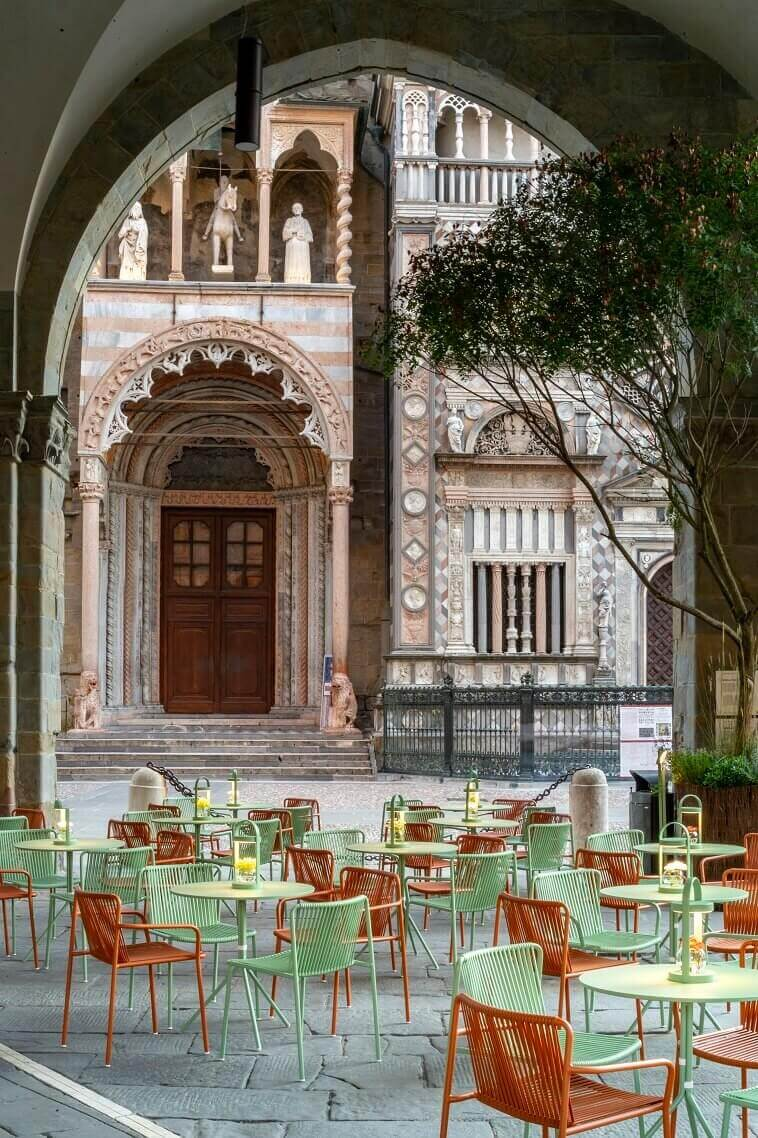 italian historical architecture,contemporary garden dining chairs,orange and green furniture,best italian design brands,outdoor design trends,