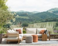 garden furniture design ideas,outdoor design inspiration,designer garden sofa,terrace with a view,neutral color furniture,