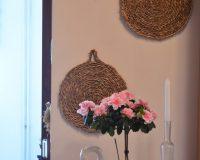 rattan wall decoration,rattan round placemats,swan home decor,dekoracije od ratana,prirodni materijali dizajn interijera,
