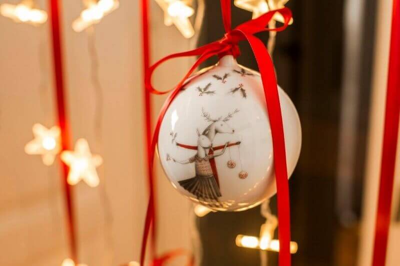 Christmas tree decorations with red ribbons,color scheme for Christmas tree,Christmas tree decoration ideas,white red holiday decorating ideas,interior designer holiday home,