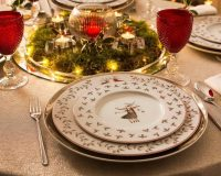 how designers decorate for Christmas,color palette holidays,color themes for Christmas tree,Christmas table decorations how to make,holiday table centerpieces ideas,
