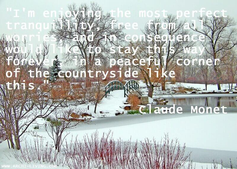 resting quotes relaxing,Claude Monet quotes,weekend inspirational thoughts,inspirational happy weekend images,winter snow images,