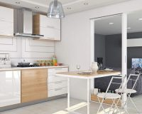 small dining room with kitchen,pull out table kitchen,how to design a small kitchen,folding dining table and chairs for small spaces,kitchen white and wood cabinets,