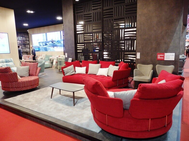 red living room ideas,spanish furniture brands,red couch living room,designer sofas,milano design fair,