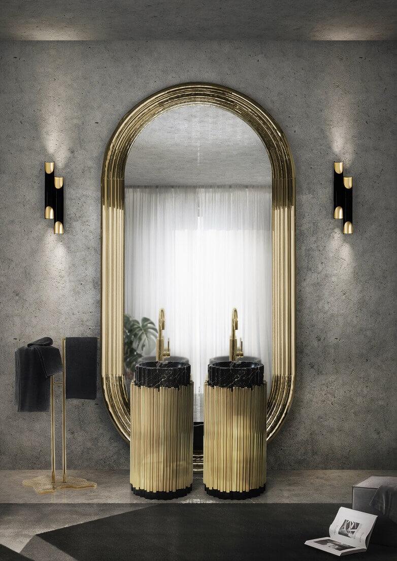 marble top bathroom furniture,luxury marble bathroom designs,brass and marble washstand,luxury brass towel rack for bathroom,luxury black and gold bathroom,