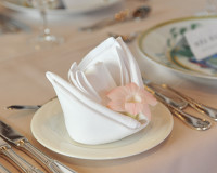 wedding table decorations,napkin folding,