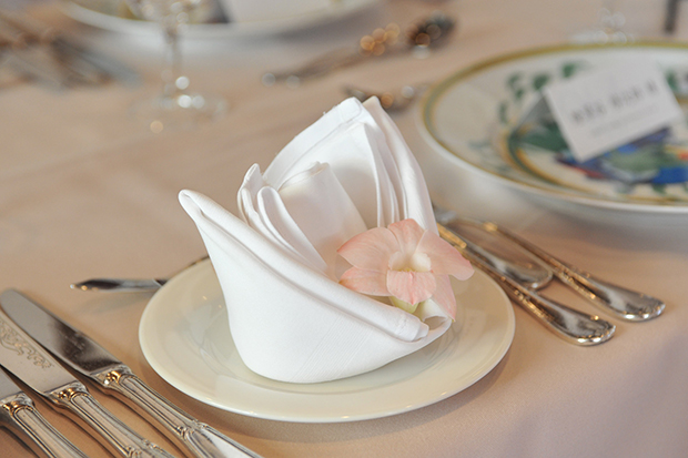 hotel wedding table settings white,napkin folding ideas for weddings,luxury table decorations,flower napkin decoration,high end restaurant tableware,