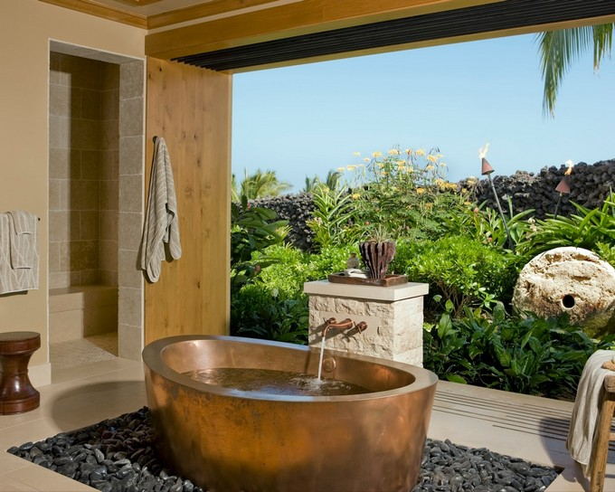 tropical bathroom,tropical bathroom ideas,bathroom,bathroom decor,bathroom ideas,luxury