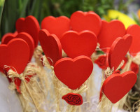 decorative hearts,decoration for romantic date,
